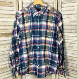 Gap Multicolor Plaid Shirt Sz M
